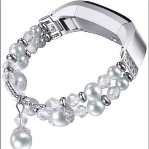 Accessories - 💜💜FITBIT REPLACEMENT BAND💜💜 silver & pearls